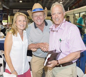 Kip and Helen Elser with Gerry Harvey at Magic Millions
